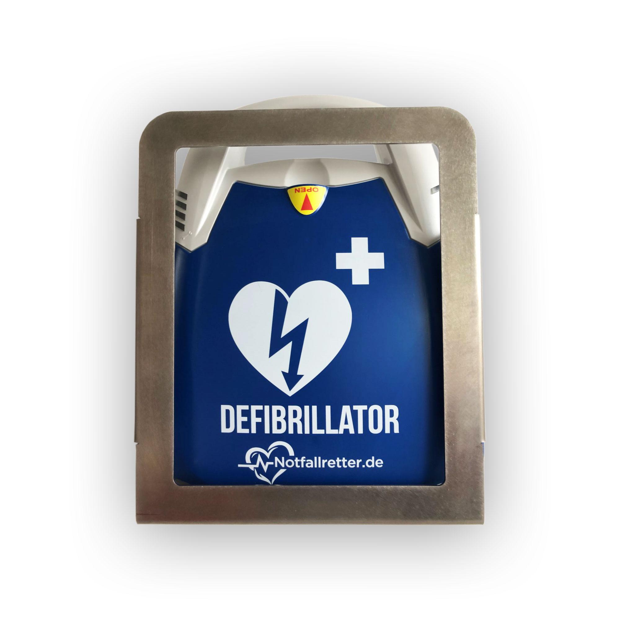 Design-Metallwandhalter® für Defibrillator Notfallretter AED