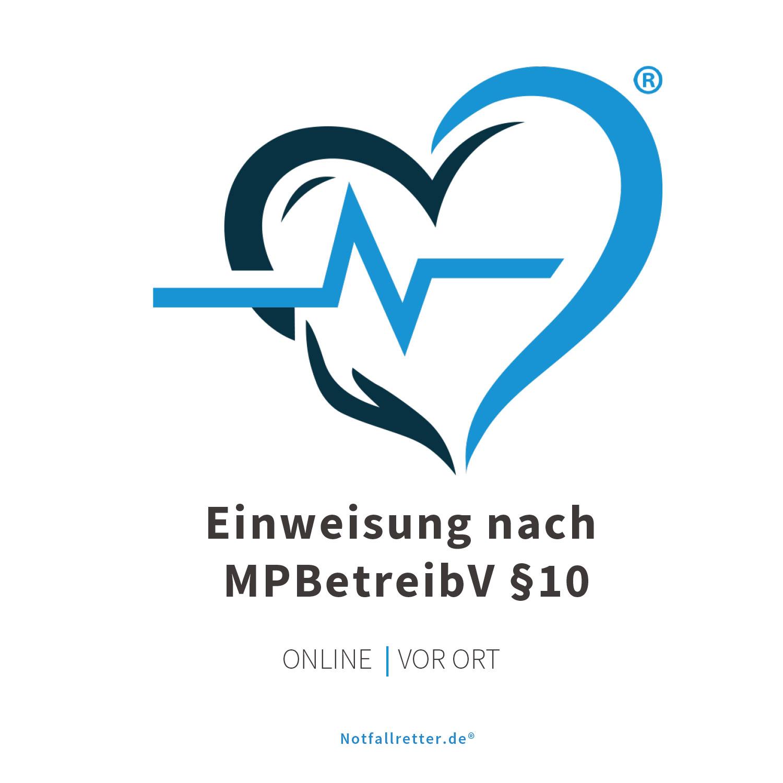 Defibrillator AED Einweisung nach MPBetreibV §10