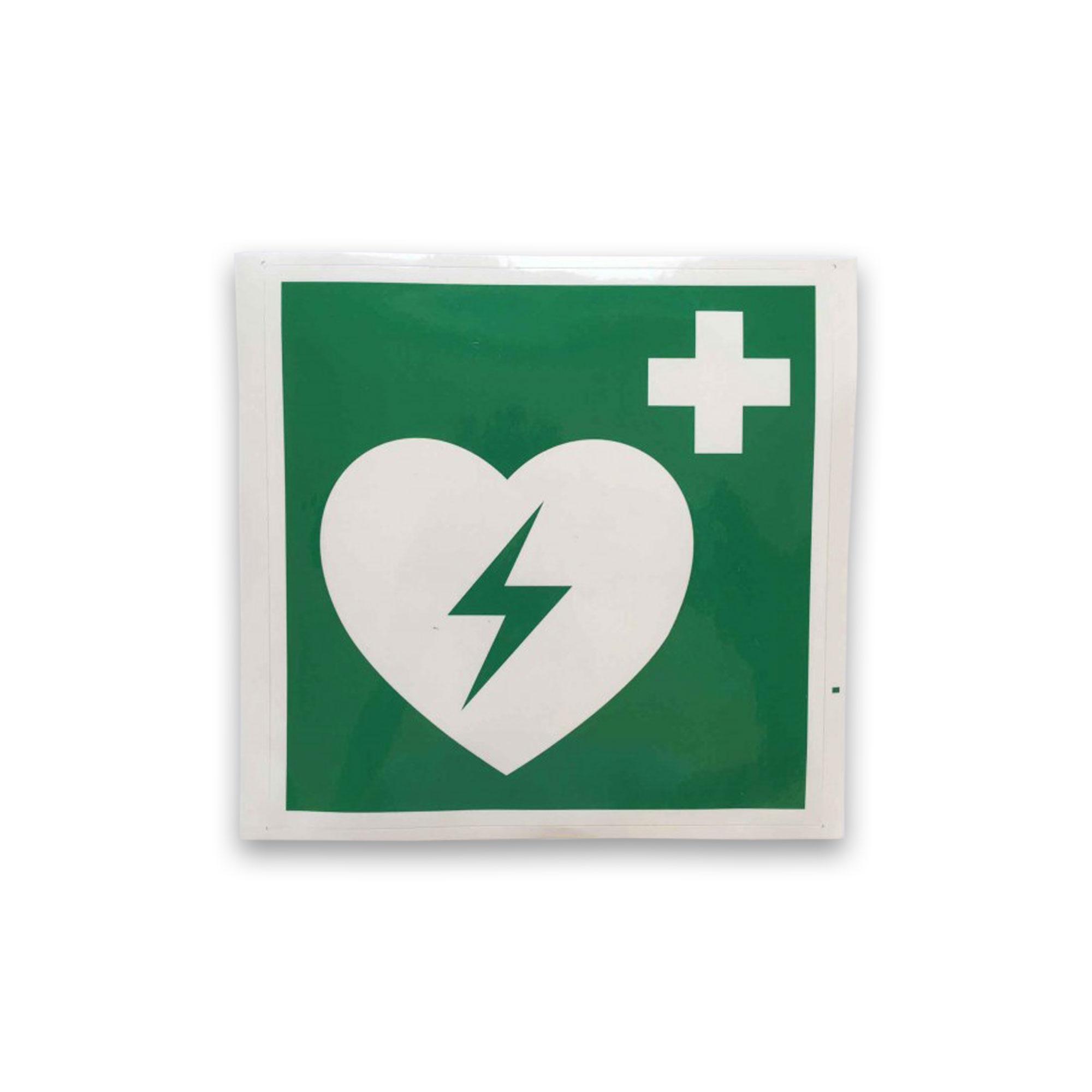 AED Defibrillator Hinweisschild-Aufkleber AK4