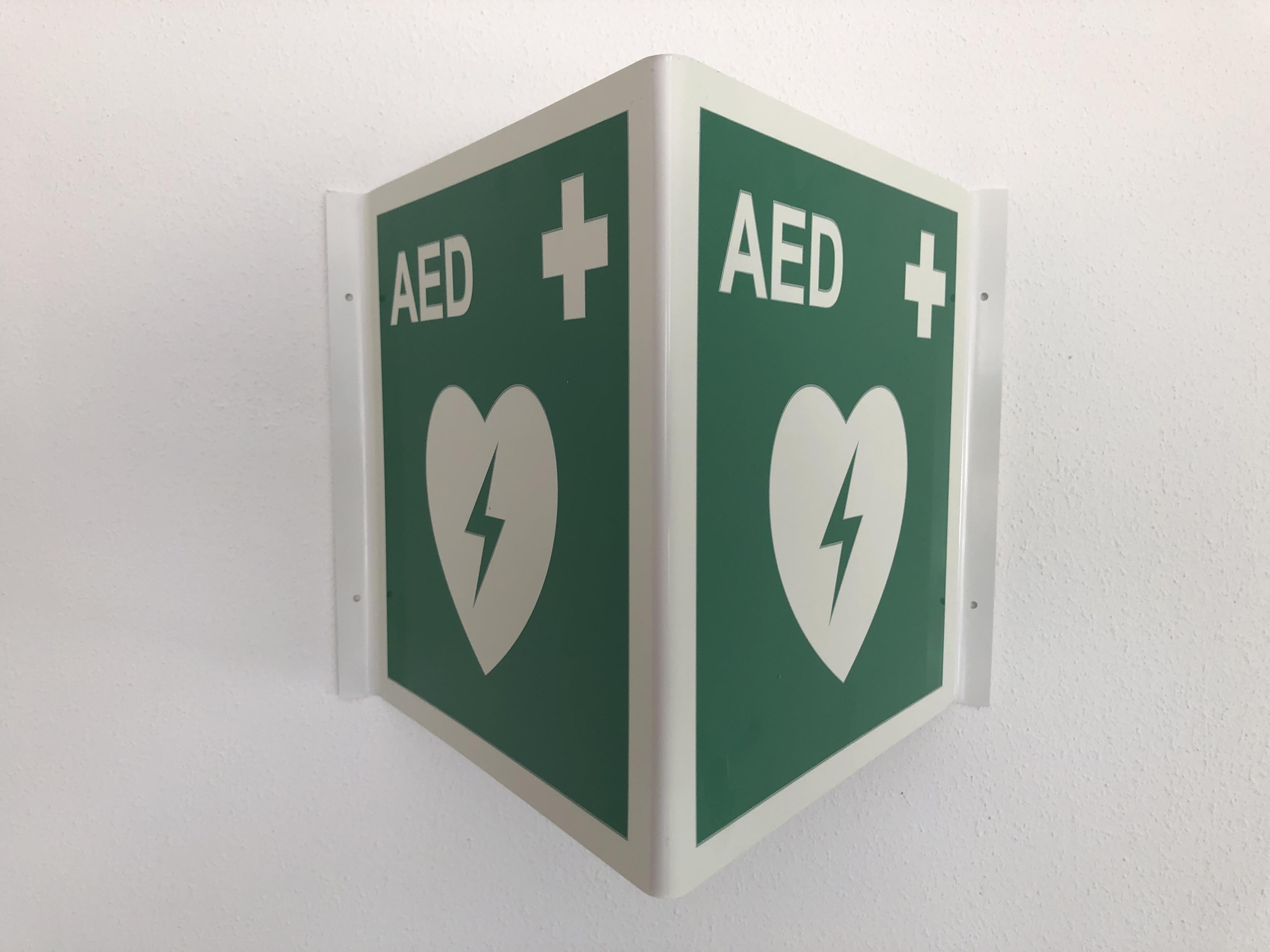 Standortwinkel für AED Defibrillator