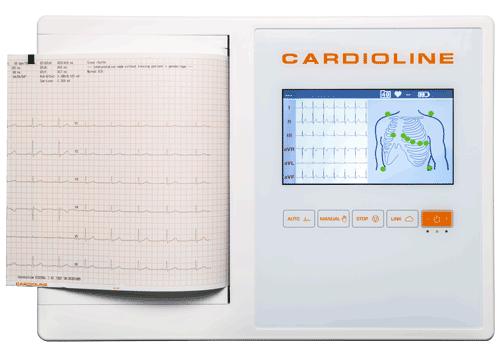 Cardioline 12-Kanal Vollformat EKG 200L Touchscreen