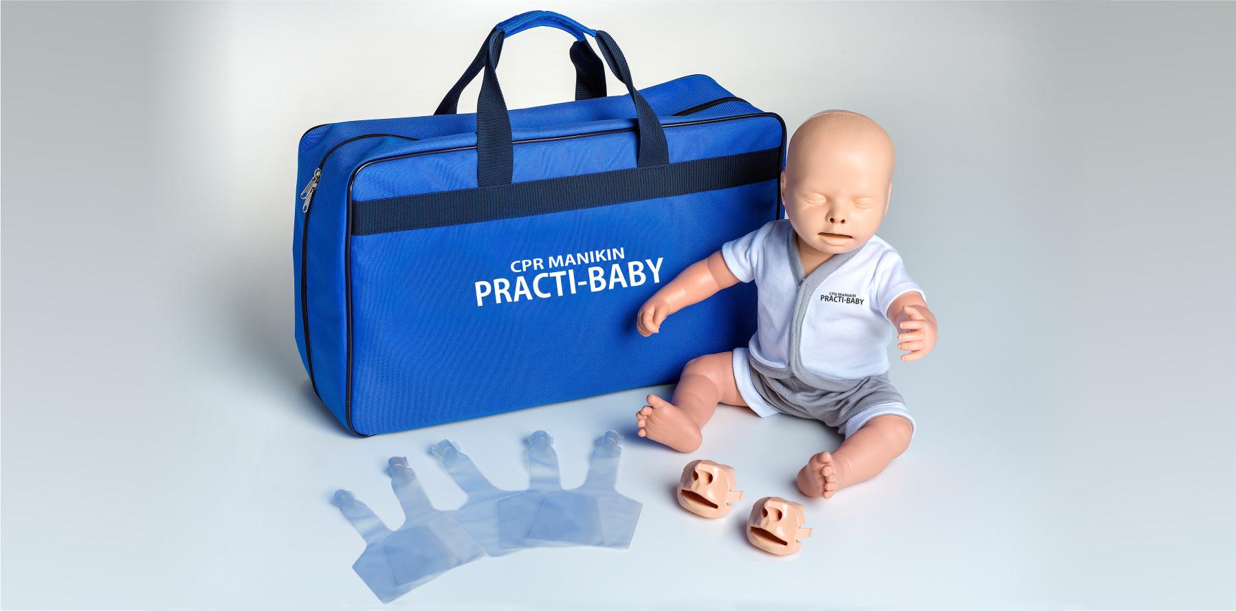 Notfallretter.de® HLW Baby Puppe 2in1 für Trainingszwecke
