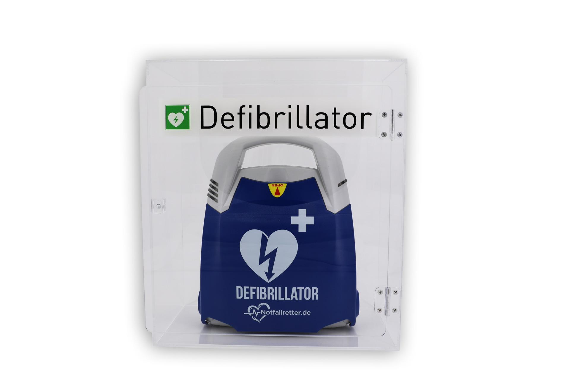 Design-Acrylglaswandkasten für Defibrillator AED